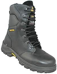 Aimont Forerunner Botas de Combate Zapatos S3 Ci HI HRO SRC Seguridad Zapatos de Trekking Black