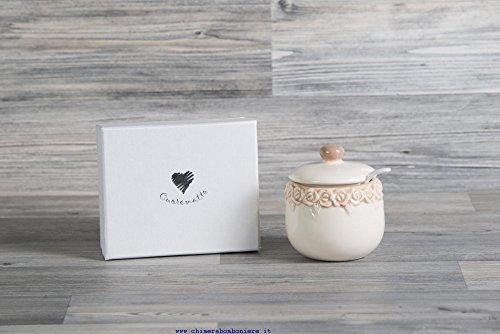 Cuorematto bomboniere solidali 2017 cuorecountry barattolino h7xd5 cm ceramica matrimonio