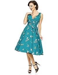 Kushi New Ladies Summer Retro 50s Rockabilly Swing Prom Party Dress - Size 12 - 20