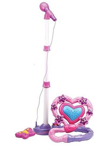 KARAOKE STAR - Profi Mikrofon + Lautsprecher + Fernbedienung für kleine Sänger - Talentförderndes Lernspiel für musikbegeisterte Kinder - Spaßfaktor wie Kroko (Barbie Kostüm Rock Punk)