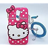Rapid Zone Cute Hello Kitty Back Cover For Lenovo K8 Note - Pink