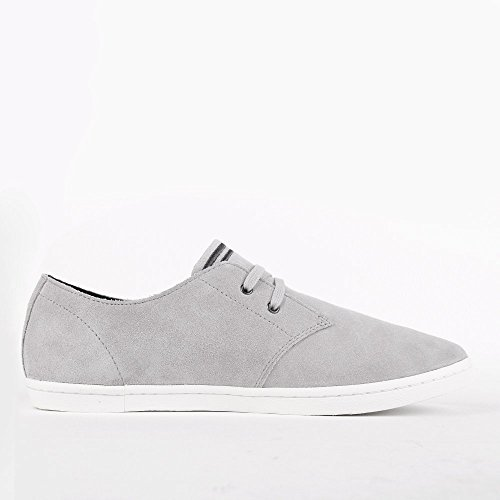 Fred Perry Byron Low Suede 1964 Silver Charcoal B7401929, Turnschuhe Gris