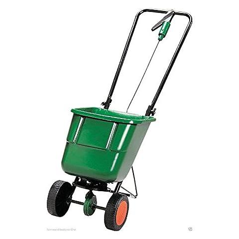 Evergreen Rotary Spreader Fertiliser Garden Lawn Grass Seed Spreading Convenient Hand Regulated Sportsmaster Spring