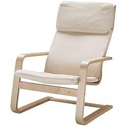 IKEA Fauteuil Pello Salon-Fauteuil-Relaxant - Couleur Holmby écru -Largeur: 67 cm Profondeur: 85 cm Hauteur: 96 cm