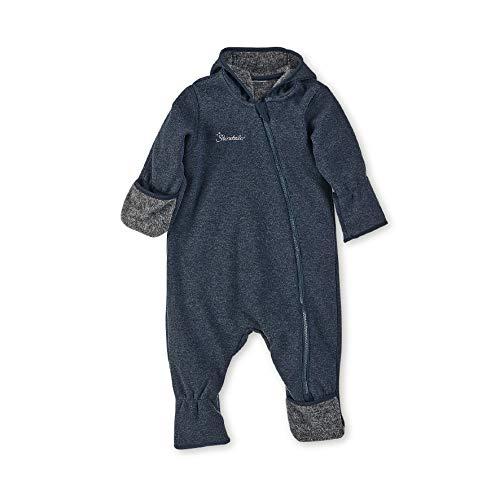 Sterntaler Gefütterter Overall für Jungen mit Kapuze und Reißverschluss, Alter: 6-9 Monate, Größe: 74, Blau (Marine)