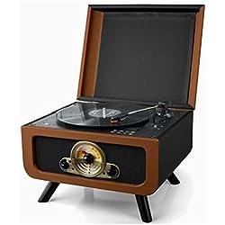 Tocadiscos retro '33–45–78RPM Con codificador y BluetoothTM tt41bt negro Majestic