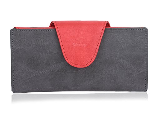 k london women's wallet red & grey-1513_greyred K London Women's Wallet Red & Grey-1513_greyred 41kl0V8XKCL