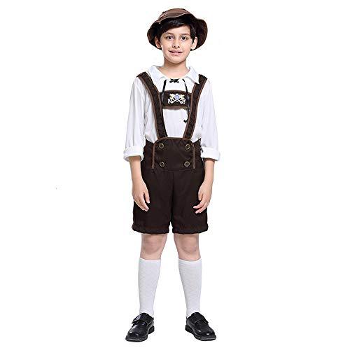 Kostüm Hut Alpine - Halloween Karneval Kostüm Cosplay Overall Kostüm Für Kinder Mädchen Alpines Drama Bühnenkostüm,Metallisch,XL