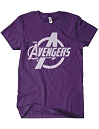 The Avengers t Shirt - Avengers Assemble Logo Purple