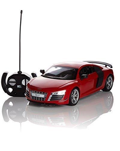 Audi R8 GT Fernbedienung/Ferngesteuert Modell Auto. 1:14 Maßstab Rot/weiß/Matt Schwarz - Rot
