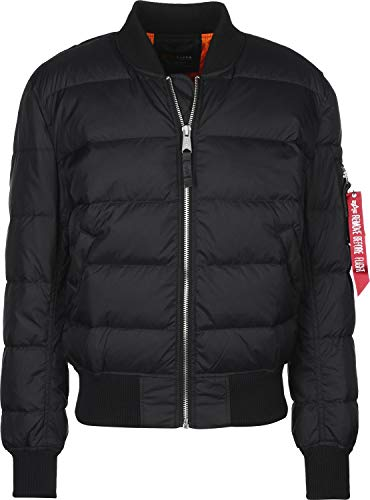 Alpha Industries Herren Bomberjacke MA-1 Puffer, Schwarz (Black 03), Medium