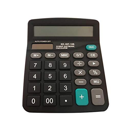Taottao - calcolatrice elettronica con funzione standard, display lcd a 12 cifre, portatile, per ufficio quotidiano e di base