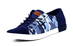 Provogue Mens Navy Canvas Sneakers (PV6005) - 7 UK