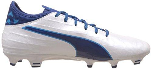 Puma Evotouch 3 Fg, Scarpe da Calcio Uomo Bianco (Puma White-True Blue-Blue Danube 03)