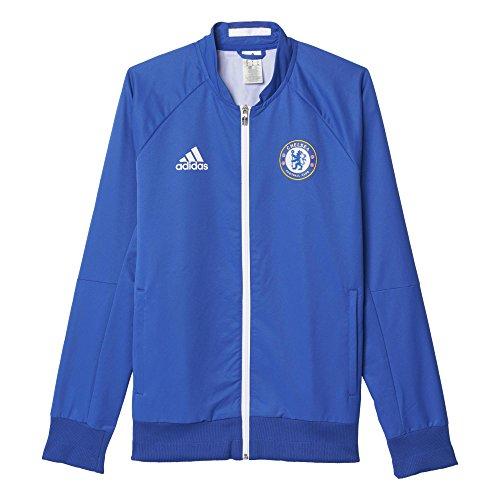 adidas Herren FC Chelsea Anthem Trainingsjacke, Blau/Weiß, XS