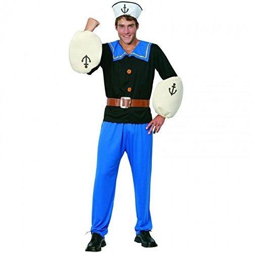 Imagen de eurocarnavales  disfraz de marinero forzudo popeye adulto talla única