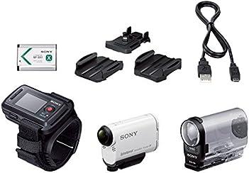 Sony HDR-AS200VR Action Camera con Kit Telecomando Live View, Sensore CMOS Exmor R da 8,8 Megapixel, Obiettivo Zeiss Tessar, Wi-Fi, NFC, GPS, Bianco