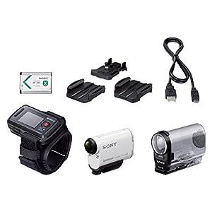 Sony Full HD Actioncam (ZEISS Tessar Objektiv mit 170 Ultra-Weitwinkel, verbesserter Optical Steadyshot, Vollständige Sensorauslesung Ohne Pixel Binning, Exmor R, Stereo Mikrofon) Weiß
