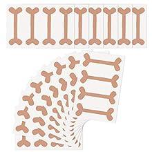 Auxsoul Nail Correction Stickers, Ingrown Toenail Corrector Stickers, Toe Nail Tape Corrector Thick Paronychia Corrector Stickers 18 Sheets/72 Pcs