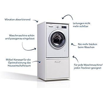 Waschmaschinenschrank Der Waschturm Amazon De Elektro Grossgerate
