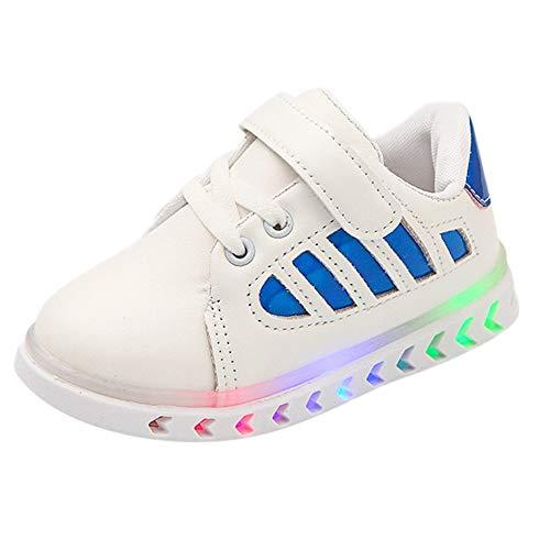HoSayLike Junge Mädchen Weiche Pailletten LED Leuchtend Freizeit Anti Rutsch Sohle Sneakers Baby Säugling Leichtes Atmungsaktiv Riemen Laufschuhe Kinder Freien gehende Schuhe