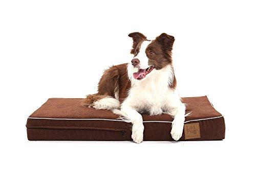 Laifug - Cama ortopédica para Mascota/Perro de Espuma viscoelástica, Forro Impermeable Durable y Funda extraíble Lavable de diseño Especial (Grande (117x71x10cm), Chocolate)