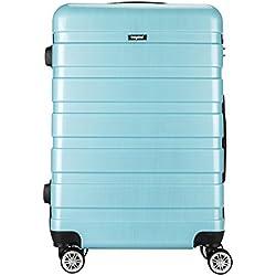 """Sunydeal® Reisekoffer Koffer Trolley Hartschalenkoffer mit TSA Zahlenschloss 28"""" 75cm 90 Liter 4 Zwillingsrollen extrem leicht aus Polycarbonat Hellblau Größe L"""