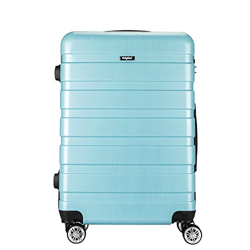 AMASAVA – Maleta Rígida Equipaje Mediano,65L,Candado TSA,ABS+PC,24″, 40.5 x 25 x 65cm, 4 Ruedas multidireccional, Azul