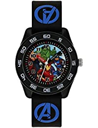 Avengers Boys Analogue Quartz Watch with Rubber Strap AVG9007