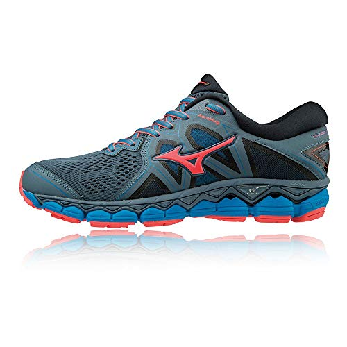 Mizuno Wave Sky 2,女士鞋,(Bluem / Fcoral / Blue 001),39 EU