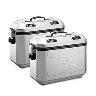 Seitliche Koffer-Set GIVI dlm36Silber 36Liter Universal