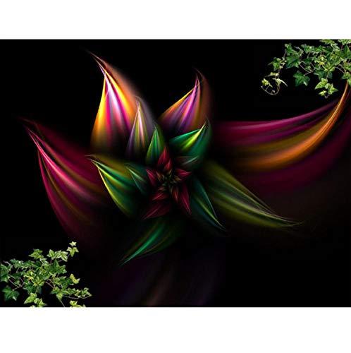 GUOXIN12 5D DIY Diamant Malerei Kreuzstich Diamant Stickerei Cartoon Blume Diamant Mosaik Wohnkultur, 60x80 cm
