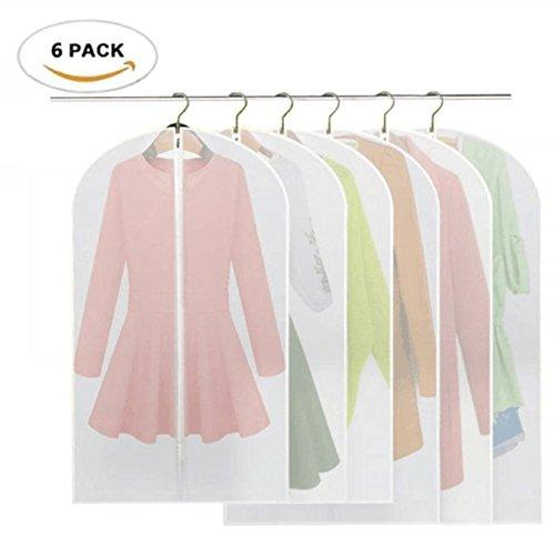 6 Stücke Kleidersack - inkl. 3 von 120 x 60 cm und 100 x 60 cm Anzugsack Kleiderhülle Anzughülle aus atmungsaktivem Material - erstklassiger Schutz für Ihre Anzüge und Kleider (Kleidersack Anzug)
