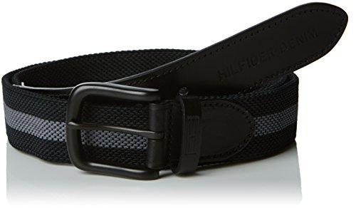 Hilfiger Denim Thdm Belt 11, Cintura Uomo, Mehrfarbig (Caviar/Castlerock 901), 100 cm