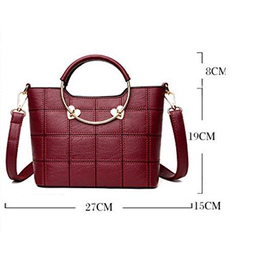 Frauen Messenger Bag Umhängetasche Handtasche Redwine