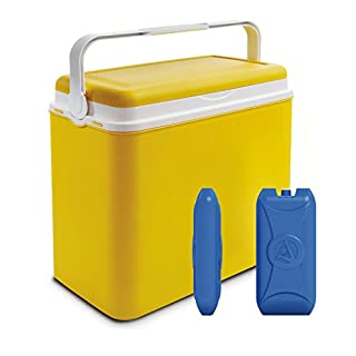 ADRIATIC Large 24 Litre Cooler Box Camping Beach Lunch Picnic Insulated Food+ 2 Ice Packs
