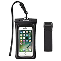 Waterproof Case, Witmoving Universal Durable Underwater Floatable Dry Bag with Armband, Audio Jack, Watertight Sealed Design Pouch for iPhone 7 plus 6s plus 5, Samsung Galaxy S7 S6, LG and other Smart Phones up to 6 Inches