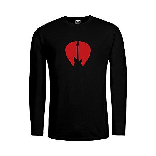 dress-puntos Herren Langarm T-Shirt Plektrum Gitarre 20drpt15-mtls00164-18 Textil -