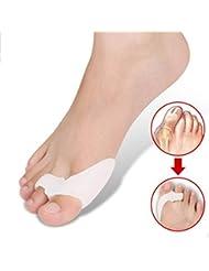 Briday 1 par el juanete separador facilita el dolor del pie pie juanete colchón dedo hallux guardia esparcidor de cuidado de los pies suave de silicona herramienta