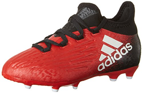 adidas X 16.1 Fg, Chaussures de Football Mixte Enfant Rouge (Red/ftwr White/core Black)