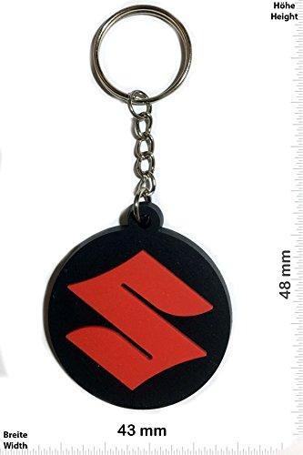 keychains-porte-cles-suzuki-round-red-key-ring-kautschuk-rrubber-keyring-perfect-also-bags-wallets-o