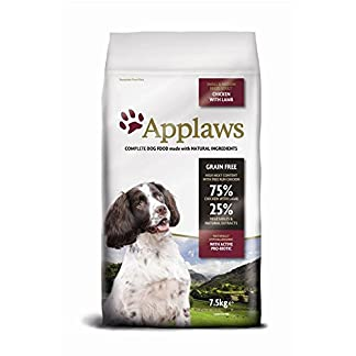Applaws Complete and Grain Free Dry Dog Food, Small/Medium Breed Adult, Chicken with Lamb, 7.5 kg 12