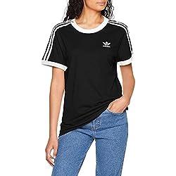 Adidas 3Stripes Tee CY4751, Camiseta Mujer, Negro, 38