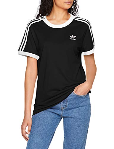 Adidas 3 stripes, t-shirt donna, nero, it 40