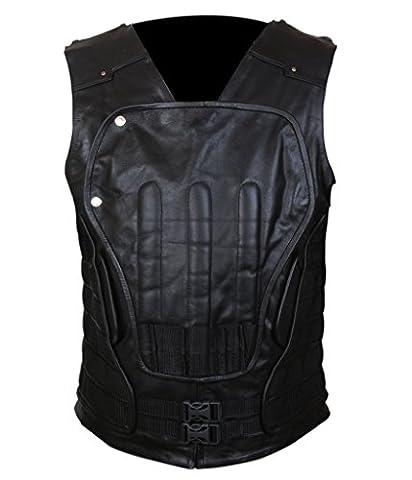 F&H Men's Punisher War Zone Frank Castle Ray Stevenson Genuine Leather Vest 3XL Black