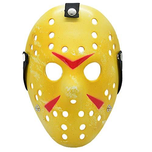 HOMELEX Friday The 14th-Jason Voorhees Freddy Hockey Festival Halloween Masks (Gelb)