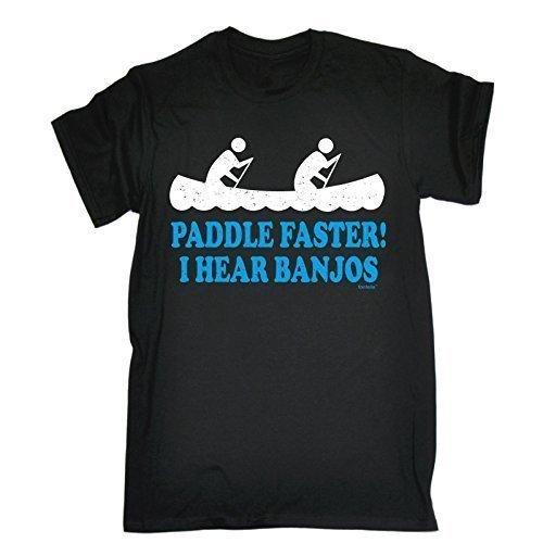 paddle-faster-i-hear-banjos-xl-black-new-premium-loose-fit-t-shirt-slogan-funny-clothing-joke-novelt