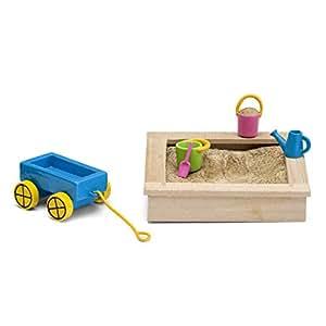 lundby sandkasten set minipuppen mit zubeh r spielzeug. Black Bedroom Furniture Sets. Home Design Ideas