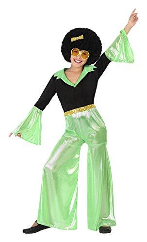 Atosa 11902 - Disco Tänzer, Mädchen, grün, Größe 116, schwarz/grün (Disco Tänzer Kostüm Kinder)