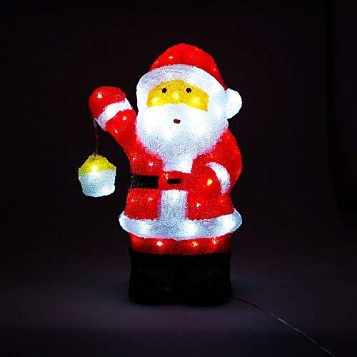 Santa Claus mit Laterne 80LED 20x27x46cm für Innen und Außen ()